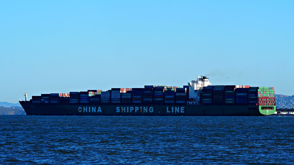 China Shipping Line Container Ship photo